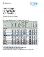Pilkington Glass Range Data Sheet