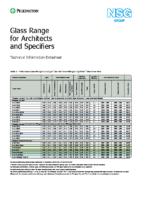 Pilkington Glass Range Data Sheet