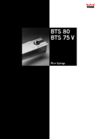 BTS80-BTS75V Floor spring