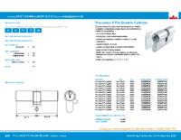 Prolinea 6 pin doublecylinder